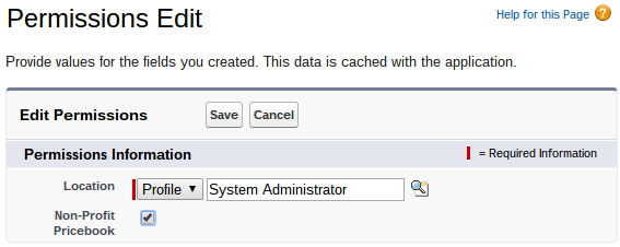 Custom Settings Permissions Set System Administrator