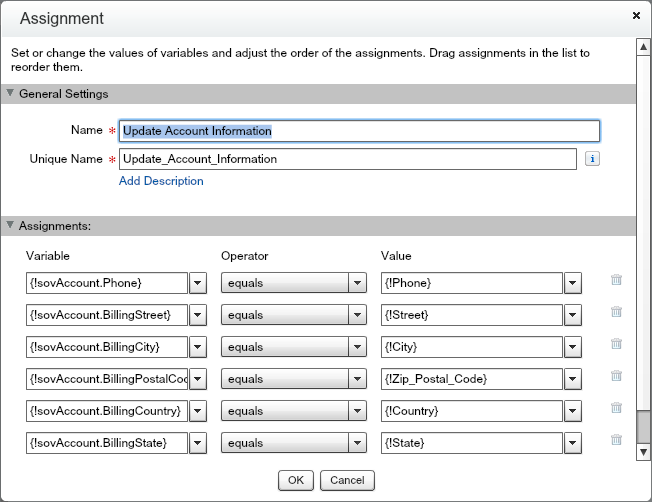 Quote Entry Flow Account Update Assignment