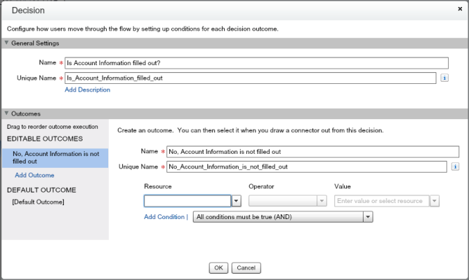 Quote Entry Flow Decision Element Account Information