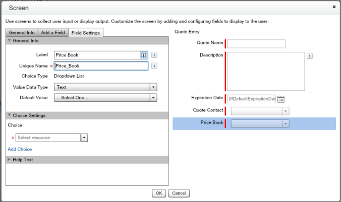 Quote Entry Flow With Price Book Dropdown
