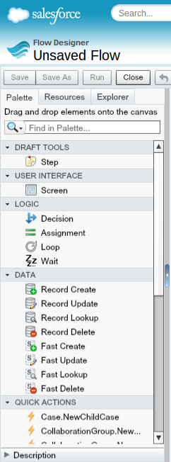 Update a Record Through a Button and Salesforce Flow   Developing Flow