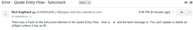 Custom Flow Fault Email