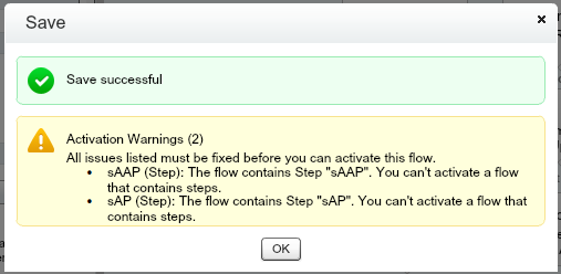 Quote Line Item Flow Step Activation Warning