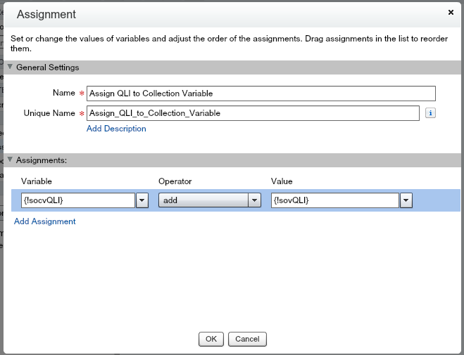 Quote Line Item Flow Add QLI To socvQLI