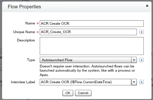 ACR Create OCR Salesforce Flow