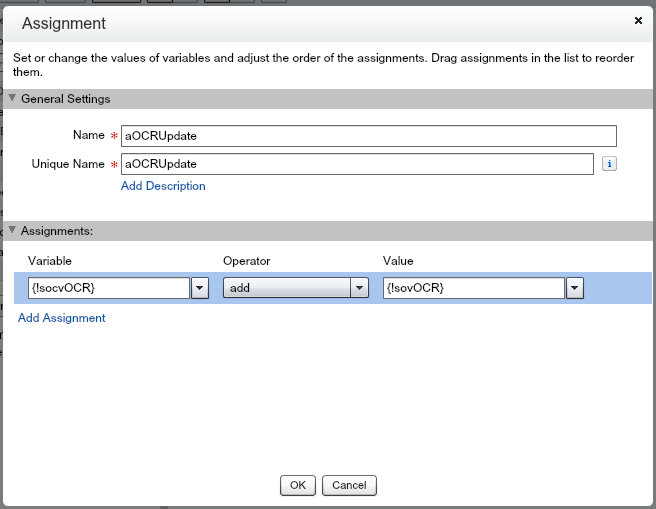 aOCRUpdate Salesforce Flow