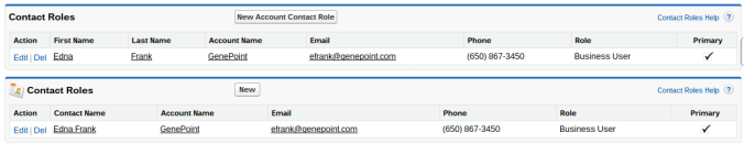 Custom Contact Roles Related List Salesforce