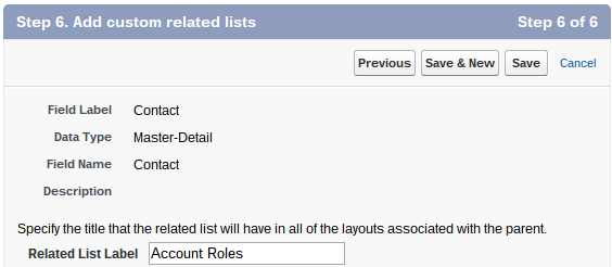 Master Detail Related List Label Salesforce