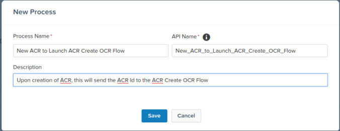 New ACR Process Builder Salesforce