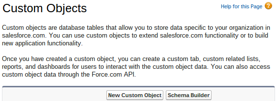 New Custom Object Salesforce