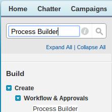 Process Builder Search Bar Setup Salesforce