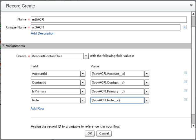 rcSACR Salesforce Flow