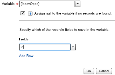 socvOpps Variable Salesforce Flow
