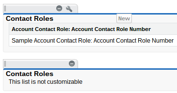 Stanard vs Custom Account Contact Role Related List Salesforce