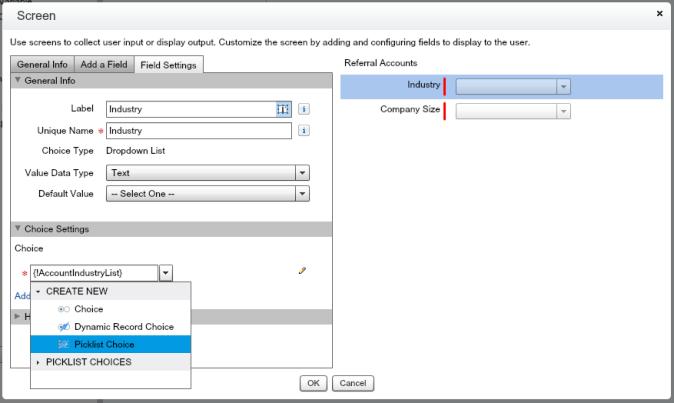 Picklist Choice in Flow Screen Input Field