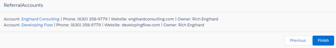 Referral Accounts List